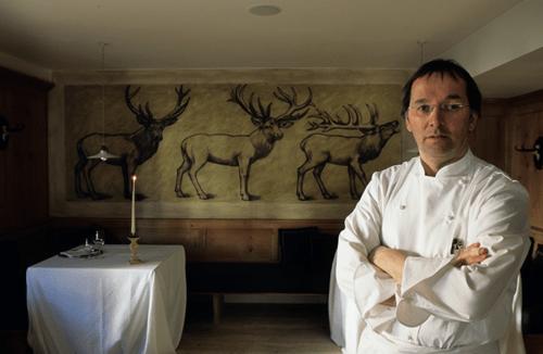 Norbert Niederkofler at St Hubertus Restaurant in Rosa Alpina