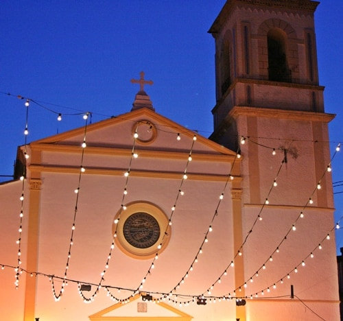 Benidorm Church At Night