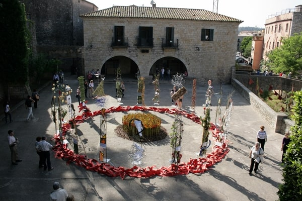 Main square flower festival girona