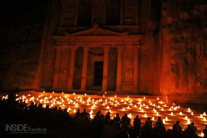 Dark Petra by night