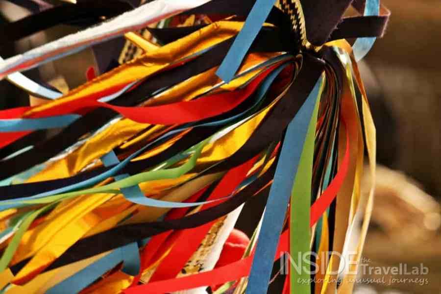 Enburi ribbons at a winter festival