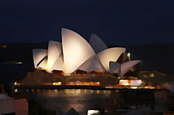 The Sydney Opera House Oil Painting