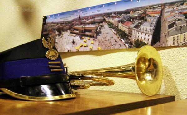 A ceremonial bugle call