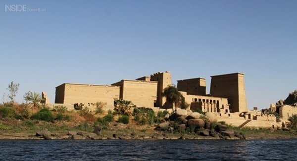 Philae temple at sunset