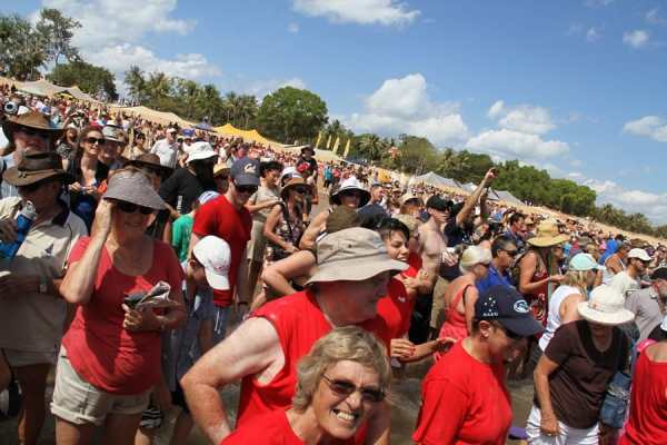 Crowds at the beer can regatta