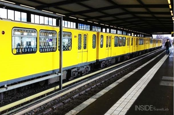 Yellow train in Berlin