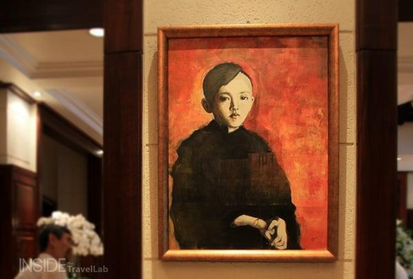 Joan Baez portrait in the lobby