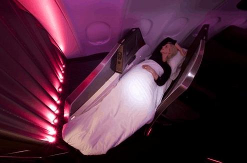 Sleeping in Virgin Business Upper Suite