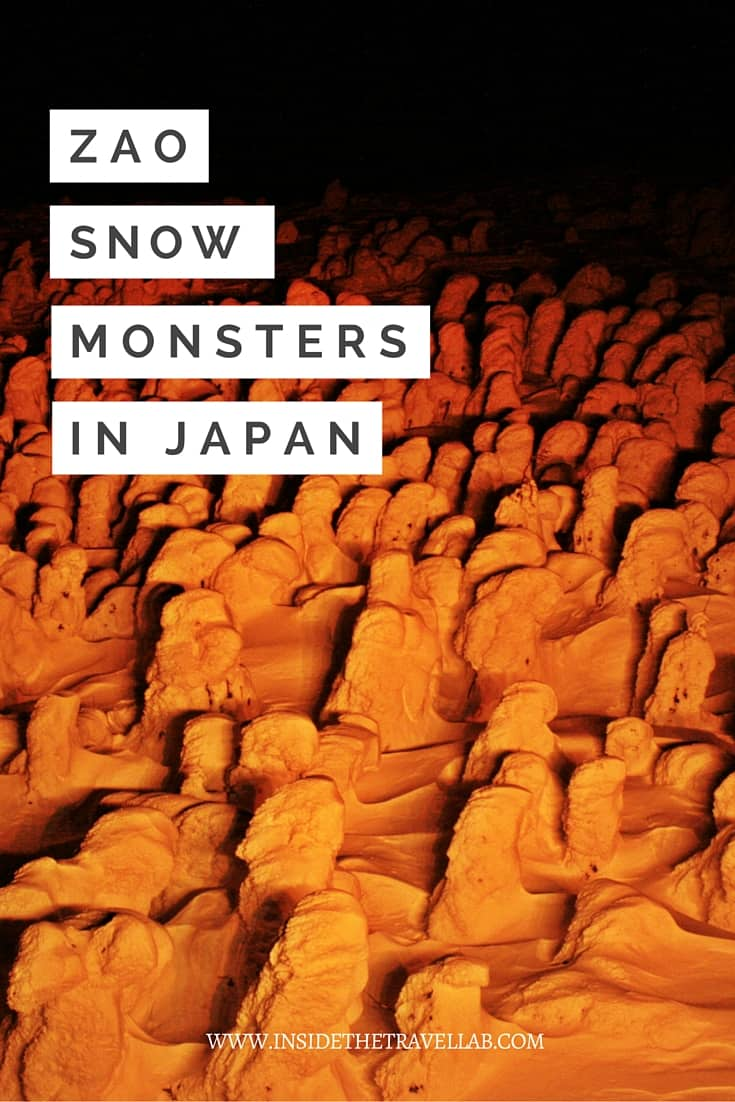 Unusual things to do in Japan. A defeated army, a population in chains – or snow monsters as the Japanese call them. - via @insidetravellab