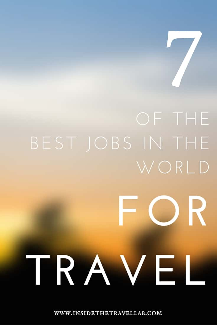 Read about some of the best jobs in the world for travel. From teaching to a conflict resolution & peacebuilding specialist, see what jobs take people around the world. - via @insidetravellab