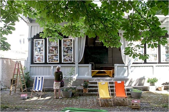Outdoor poetry readings in Graz