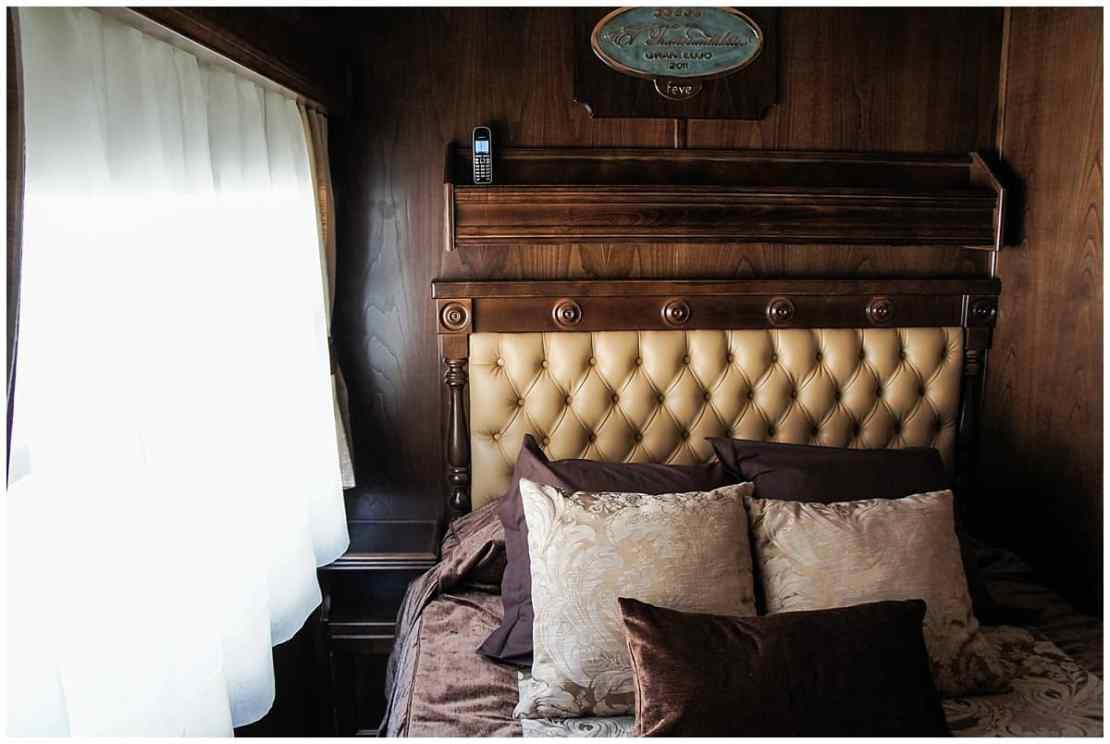 Caramel cabin in the Transcantabrico train in Spain