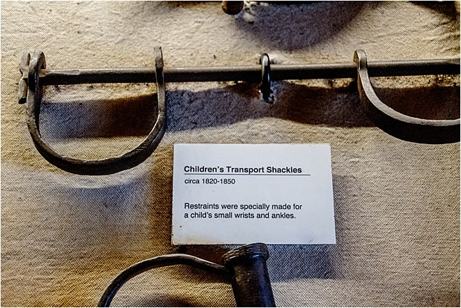 Shackles for transporting children