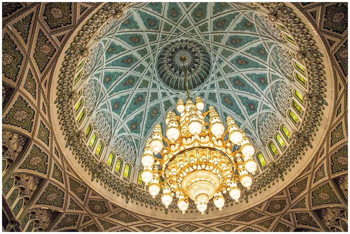 Chandelier at Sultan Qaboos Mosque