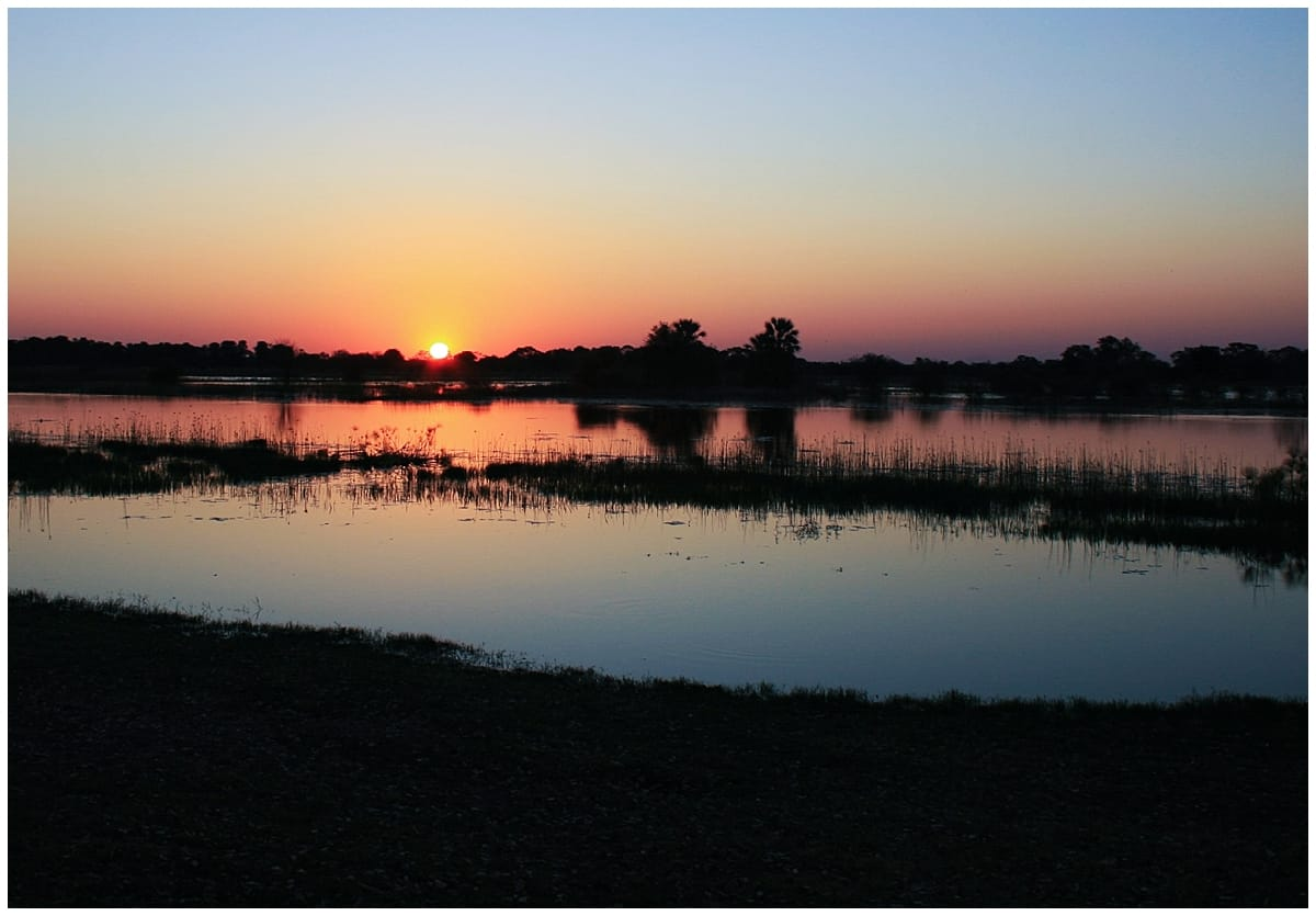 Sunset from Maun on the Okavango Delta