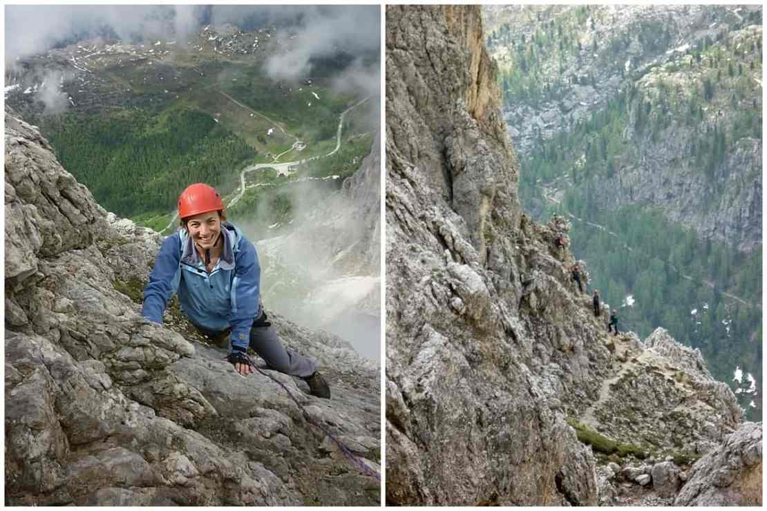 Abigail king Via Ferrata Dolomites