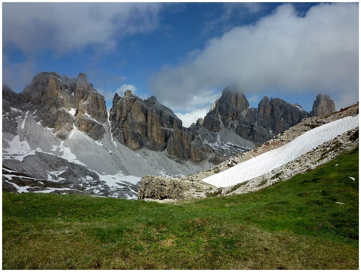 Via Ferrata Dolomites Italy gentle walk back down