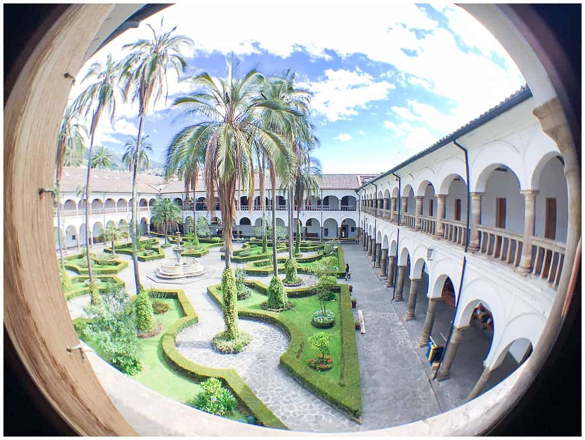 FIsh eye view of Quito in Ecuador