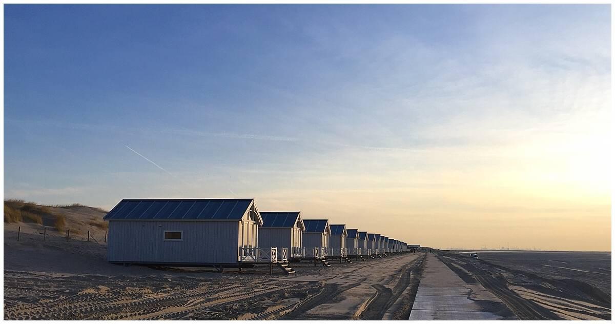 Beachside cabins and accommodation at Kijkduin near Scheveningen Beach