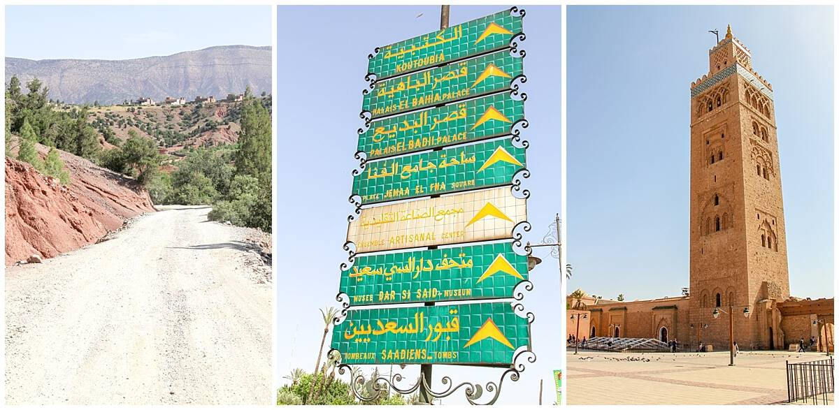 Signposts in Driving Morrocco