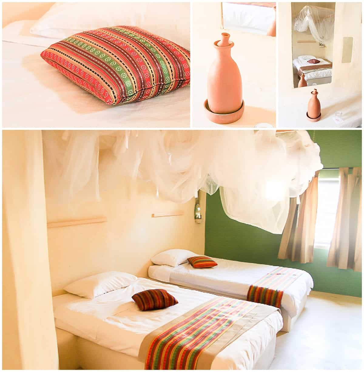 Rooms at the Feynan Ecolodge in Jordan