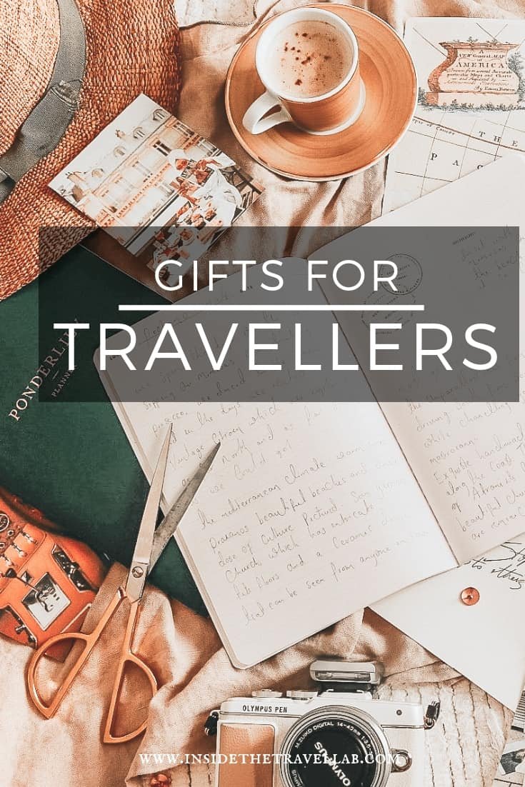 Gifts for travellers - Ideas for what present  to buy someone who loves travel. From big to small, young to old, this list mixes travel diaries with suitcases with novel solutions as well. And it's all hand tested by @inisdetravellab #Travel #Gifts #IDeas
