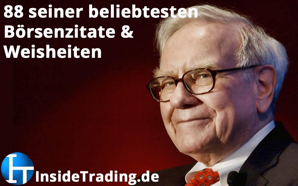 88 Der Beliebtesten Börsenzitate Von Warren Buffett