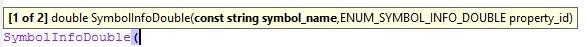 Automatische Code Ergänzung Metaeditor Metatrader 5 - MQL5