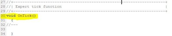 OnTick() - Funktionen im Metatrader Editor - MQL5