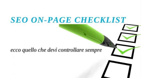 SEO on-page checklist