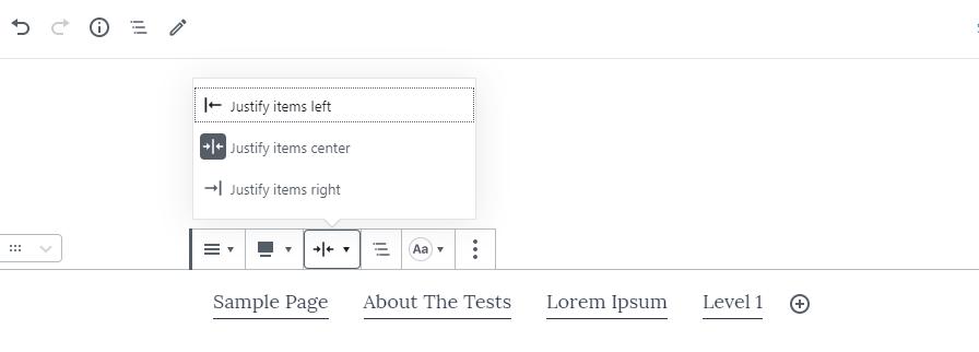 Gutenberg 7.1-nav-block-align