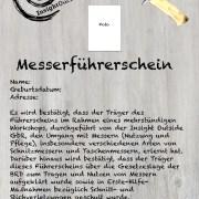 Bild vom Messerführerschein