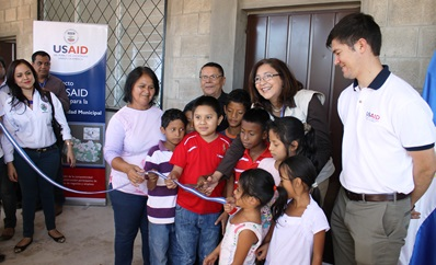A USAID youth training center in El Salvador