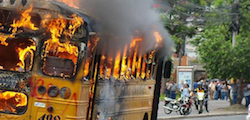 Extortionists burn buses to intimidate victims