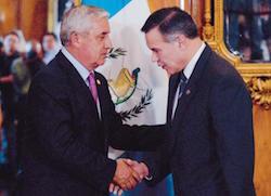 Juan de Dios Rodriguez (right) with Guatemalan President Otto Perez Molina