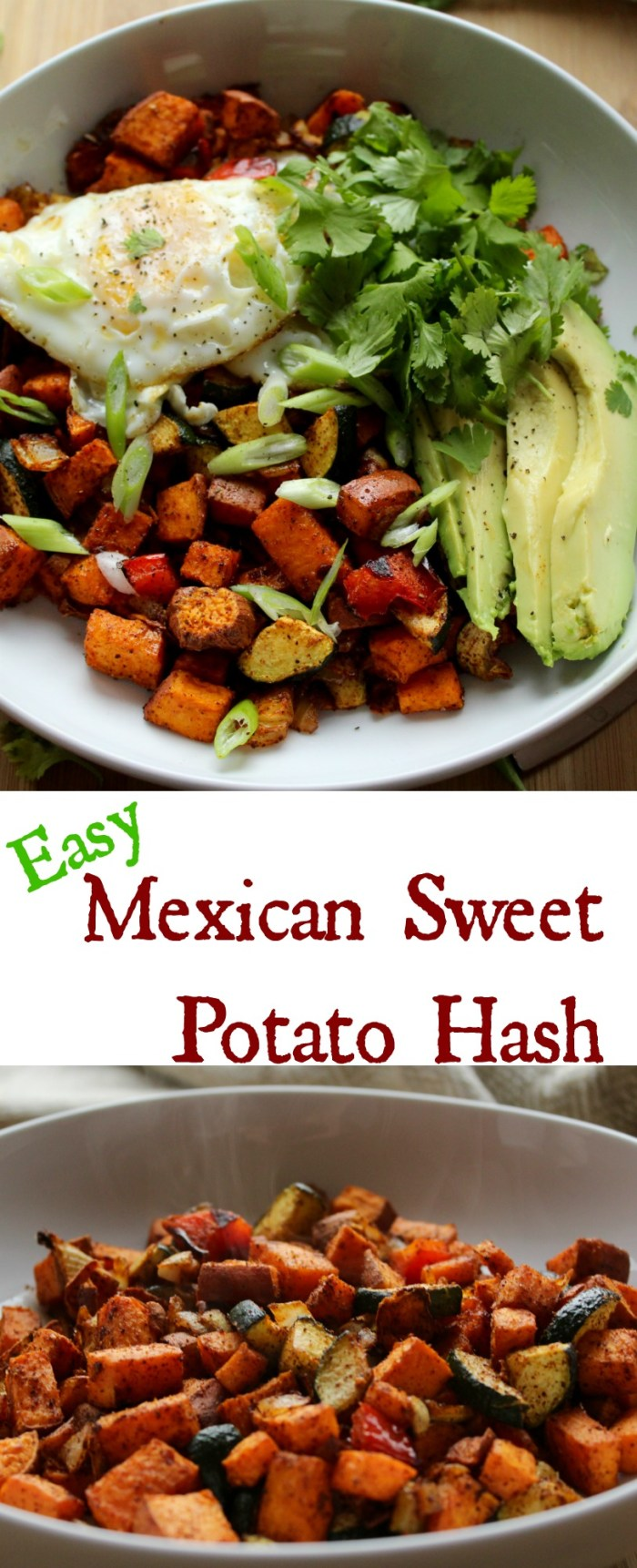 Easy Mexican Sweet Potato Hash. I love brunch!