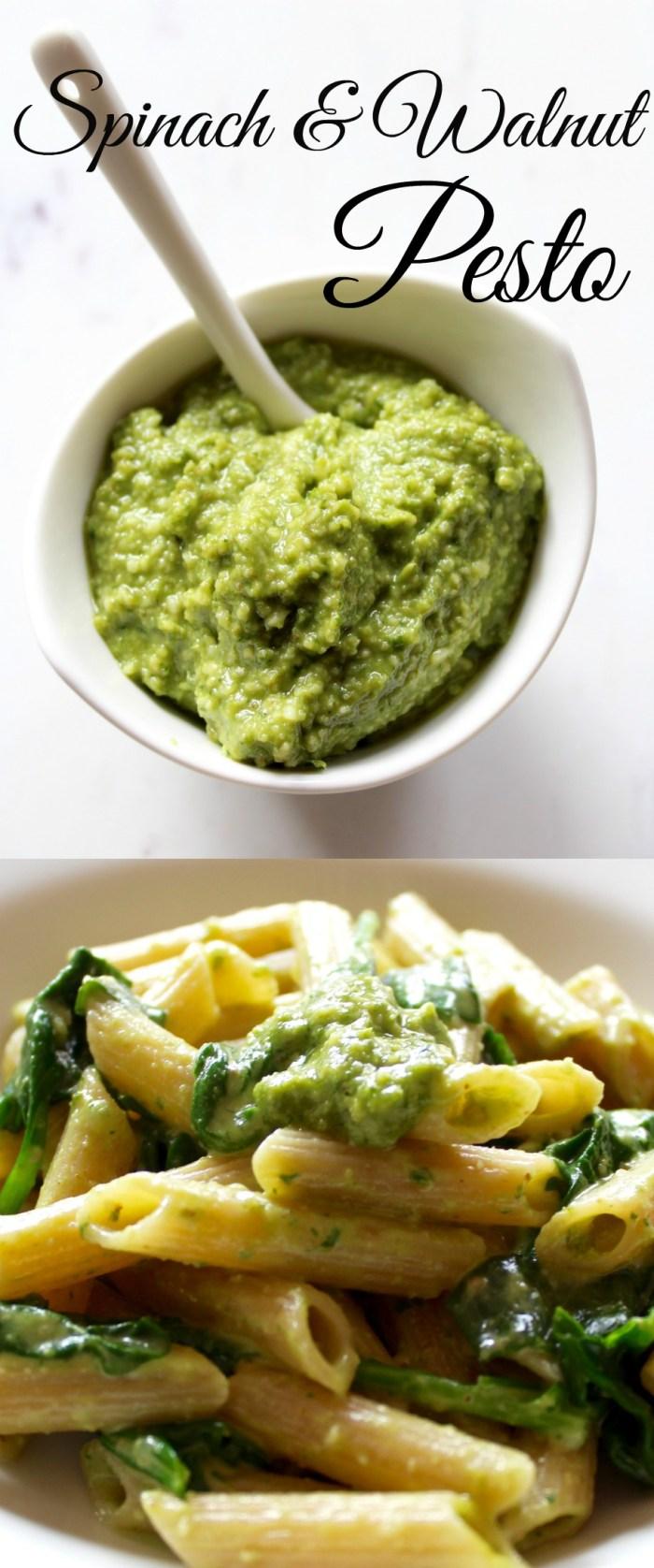 Super Easy Spinach and Walnut Pesto