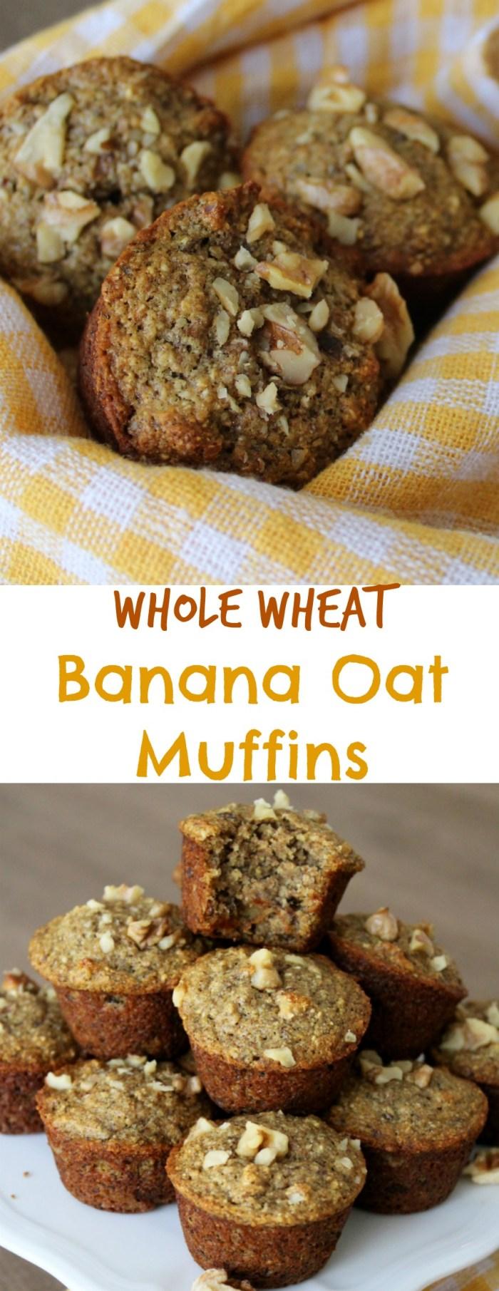 Whole Wheat Banana Oat Muffins (Vegan) - Insightful Bite