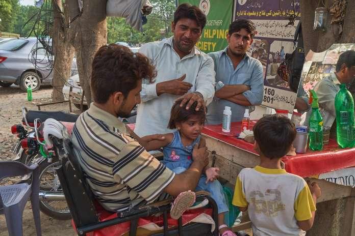 outdoor barber Pakistan