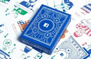 Este original juego de cartas fue enviado a las agencias que trabajan con Facebook.