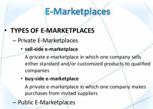 e-market places