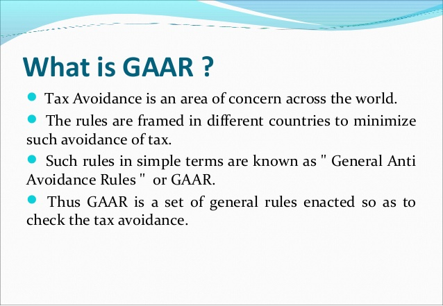 Image result for GAAR: General Anti-Avoidance Rules