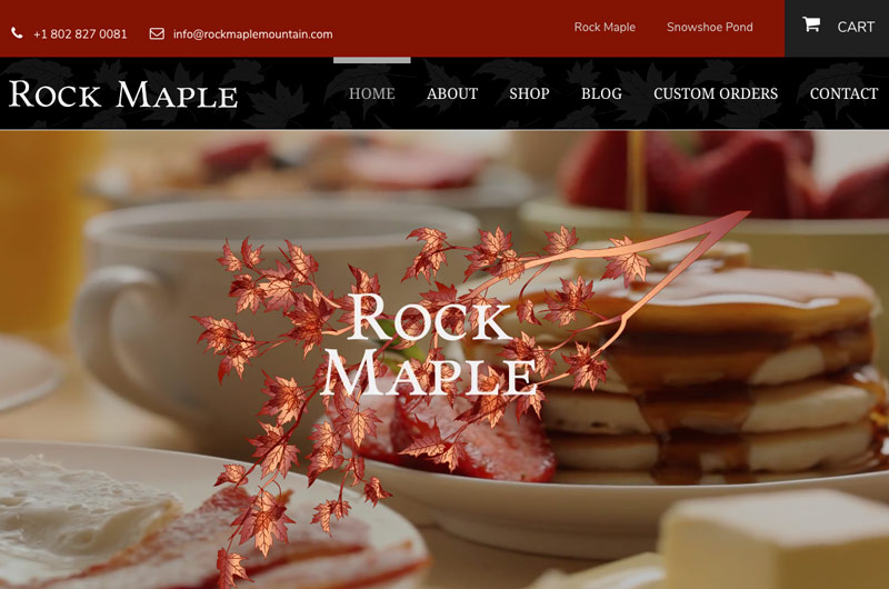 Rock Maple Home page web design