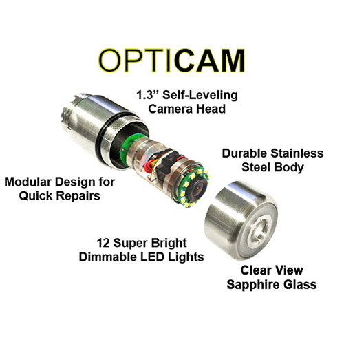 Opticam Self-Leveling Camera Head Sapphire Lens
