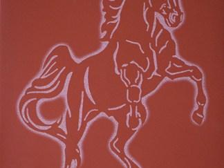 Korskea ori punainen kaakeli