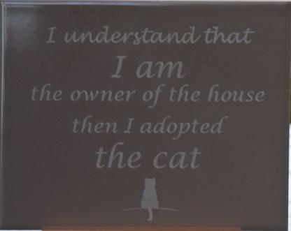 The Cat hiekka kaakeli tekstitaulu