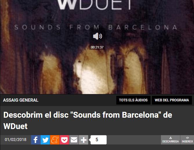Descobrim el disc _Sounds from Barcelona