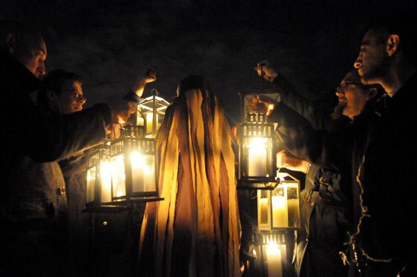 Lanterns in Midwinter Light