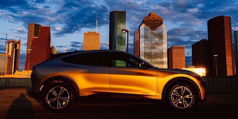 electric car ford mustang