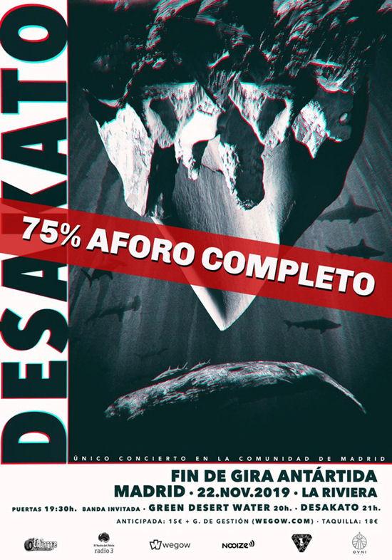 Desakato: más de 75% vendido para su fin de gira en Madrid